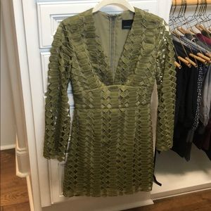 CYNTHIA ROWLEY OLIVE GREEN DRESS